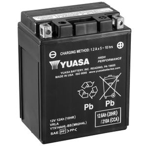 Yuasa YTX14AHL-BS High Performance MF Motorcycle Battery