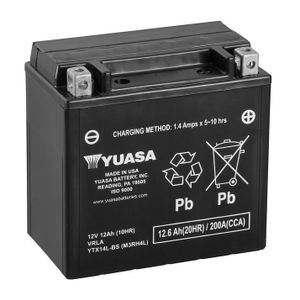 Yuasa YTX14L-BS MF Motorcycle Battery