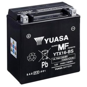 Yuasa YTX16-BS MF Motorcycle Battery