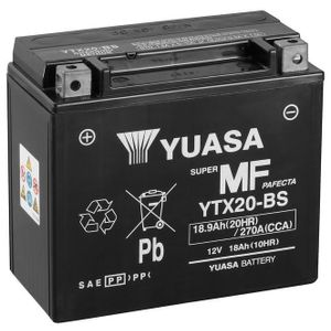 Yuasa YTX20-BS MF Motorcycle Battery