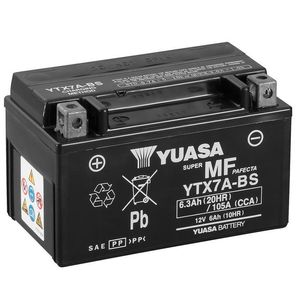 Yuasa YTX7A-BS MF Motorcycle Battery