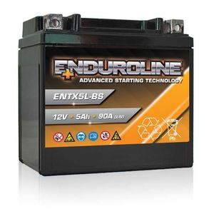 ENTX5L-BS Enduroline Advanced Motorcycle Battery 12V 5Ah