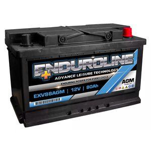 EXV88AGM Enduroline AGM Leisure Marine Battery 12V 80Ah
