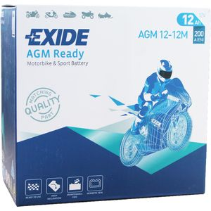 AGM12-12M Exide Motorcycle Battery 12V