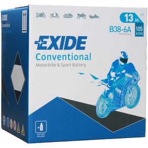 Exide B38-6A 6V Conventional Motorcycle Battery