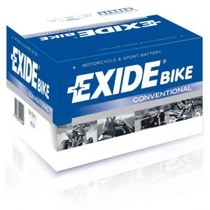 Exide EB12A-B 12V Conventional Motorcycle Battery