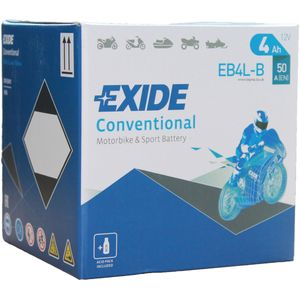Exide EB4L-B 12V Conventional Motorcycle Battery