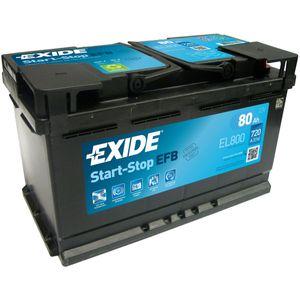 Exide 115 EFB Car Battery 80Ah EL800