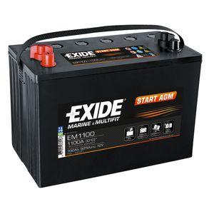 EM1100 Exide Marine and Multifit START AGM Battery