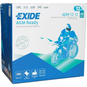 AGM12-12 Exide Motorcycle Battery 12V