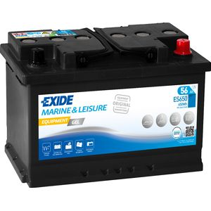 ES650 Exide G60 Marine and Multifit Gel Leisure Battery 56Ah