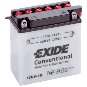 Exide 12N5-3B 12V Conventional Motorcycle Battery