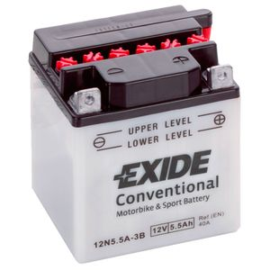 Exide 12N5.5A-3B 12V Conventional Motorcycle Battery