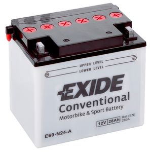 Exide E60-N24-A 12V Conventional Motorcycle Battery
