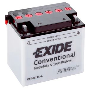 Exide E60-N24L-A 12V Conventional Motorcycle Battery