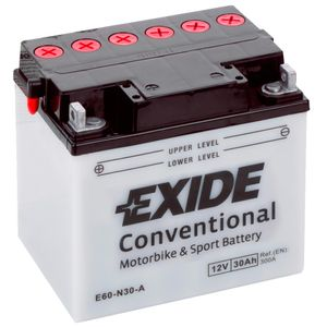 Exide E60-N30-A 12V Conventional Motorcycle Battery