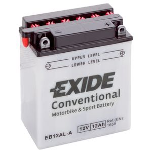 Exide EB12AL-A 12V Conventional Motorcycle Battery