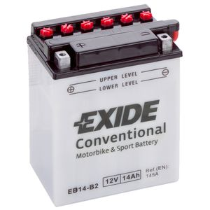 Exide EB14-B2 12V Conventional Motorcycle Battery