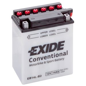 Exide EB14L-B2 12V Conventional Motorcycle Battery