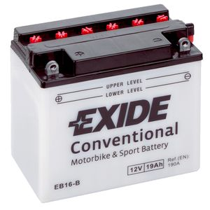 Exide EB16-B 12V Conventional Motorcycle Battery