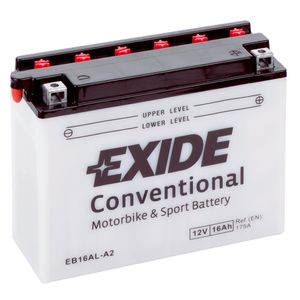 Exide EB16AL-A2 12V Conventional Motorcycle Battery