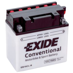 Exide EB16CL-B 12V Conventional Motorcycle Battery