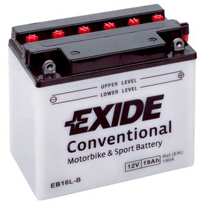 Exide EB16L-B 12V Conventional Motorcycle Battery