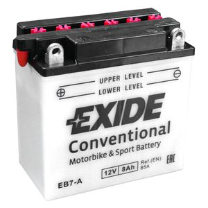 Exide EB7-A 12V Conventional Motorcycle Battery