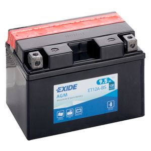 Exide ET12A-BS 12V Motorcycle Battery YT12A-BS
