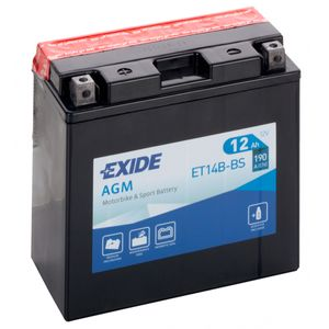 Exide ET14B-BS 12V Motorcycle Battery YT14B-BS