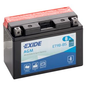 Exide ET9B-BS 12V Motorcycle Battery YT9B-BS