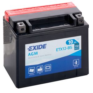 Exide YTX12-BS 12V Motorcycle Battery ETX12-BS