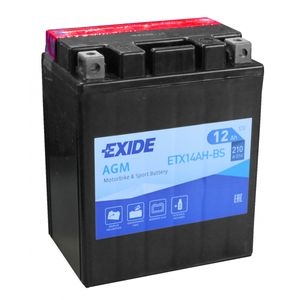 Exide ETX14AH-BS 12V Motorcycle Battery YTX14AH-BS