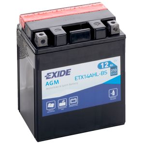 Exide ETX14AHL-BS 12V Motorcycle Battery YTX14AHL-BS