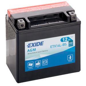 Exide ETX14L-BS 12V Motorcycle Battery YTX14L-BS