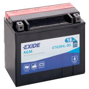 Exide ETX20HL-BS 12V Motorcycle Battery YTX20HL-BS