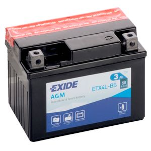 Exide YTX4L-BS 12V Motorcycle Battery ETX4L-BS