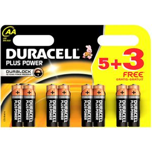 Duracell AA - Eight Pack (Five Plus Three Free)