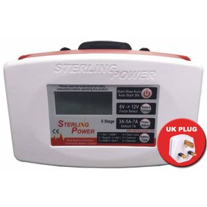 Sterling Power 12V 7A Ultra Portable Battery Charger B127 - UK PLUG