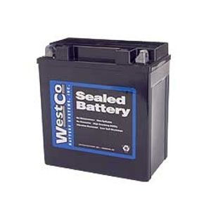 12V16-B Westco Motorcycle Battery 12V 14Ah - Replaces YTX16-BS1