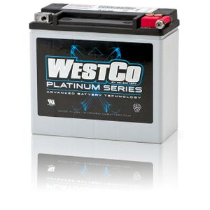 WCP20L Westco Platinum Motorcycle Battery 12V 18Ah - Replaces YTX20L-BS