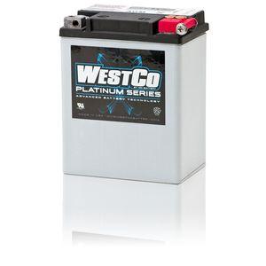 WCP15L Westco Platinum AGM Batterie De Moto 12V 14Ah YB14L-A2 (SVR15L)