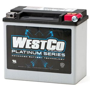 WCP16L Westco Platinum Motorcycle Battery 12V 19Ah YB16CL-B