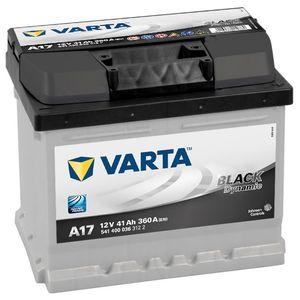 Type 007 Varta Black Dynamic Car Battery 12V 40Ah  (Short Code: A17)  (Varta DIN: 540 200 036 or 541 400 036)