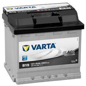 Type 012 Varta Car Battery 12V 45Ah  (Short Code: B19) (Varta DIN: 545 412 040)
