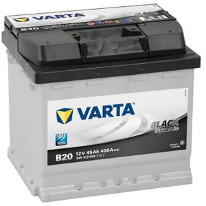 Type 077 Varta Black Dynamic Car Battery 12V 45Ah  (Short Code: B20)  (Varta DIN: 544 064 036 or 545 413 040)