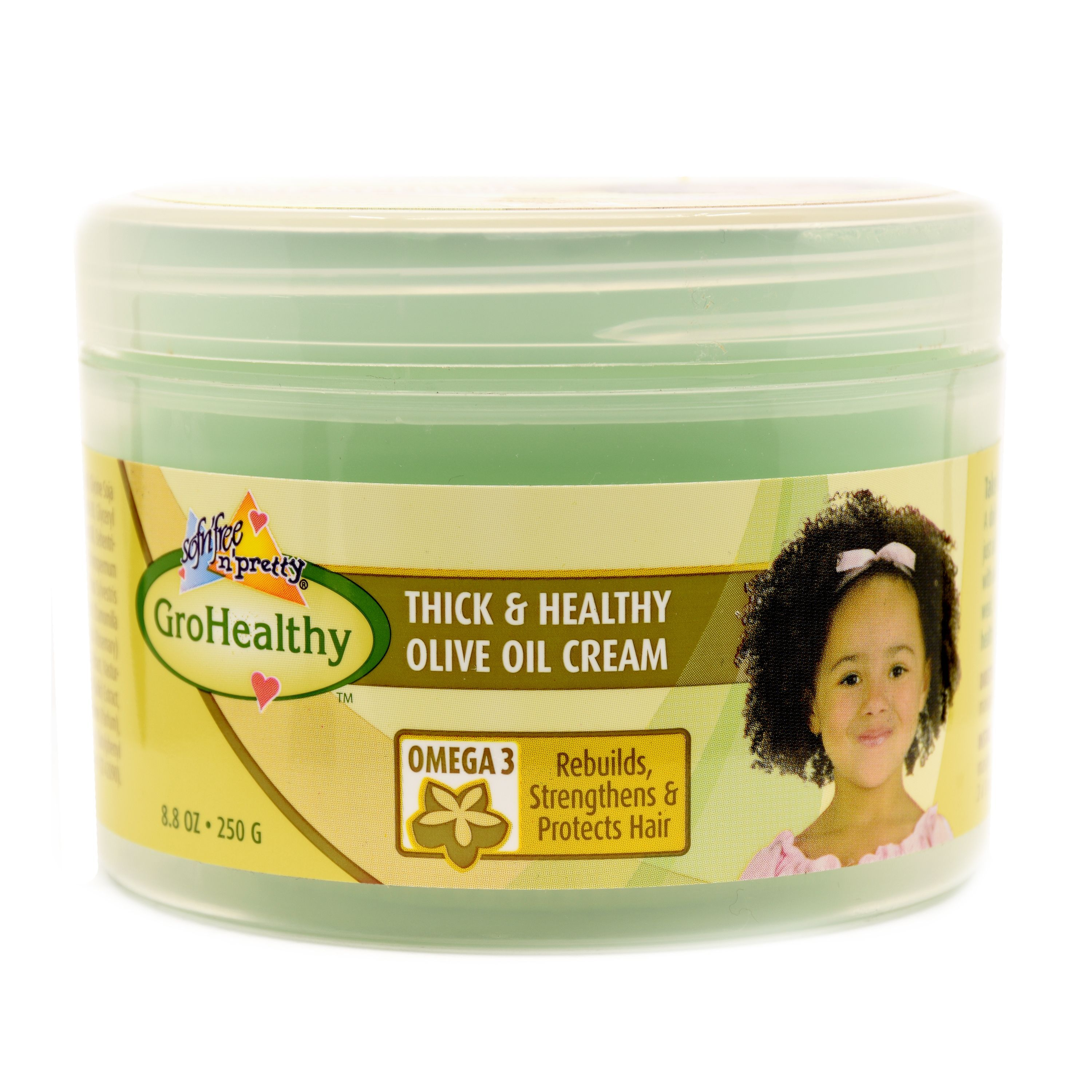 Sofn'Free N' Pretty GroHealthy Thick & Healthy Olive Oil Cream - 8.8oz