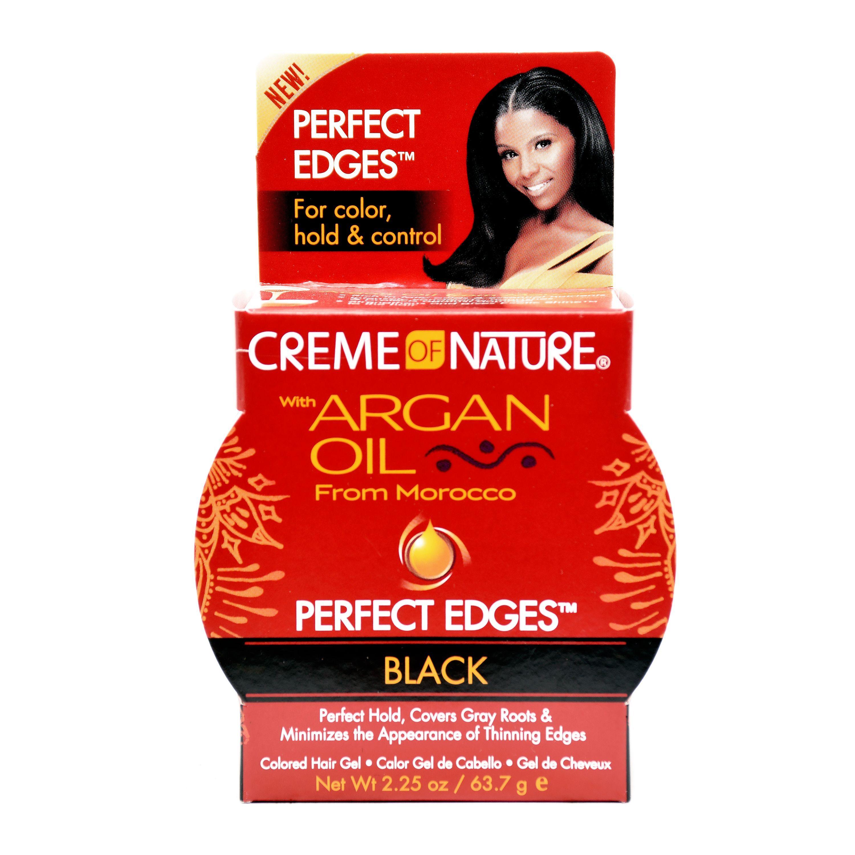 Creme Of Nature Argan Oil Perfect Edges Black - 2.25oz