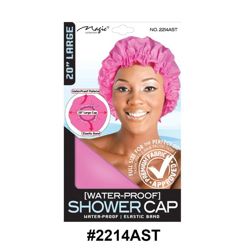 """Magic Collection Women's Shower 20"""" Cap 2214ast - Assorted Colors"""