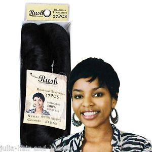 Rush Brazilian Temptation 100% Human Hair 27 Pcs - Jet Black